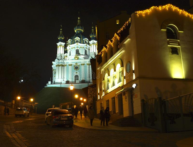 基辅 乌克兰 圣安德鲁` s教会 免版税库存图片