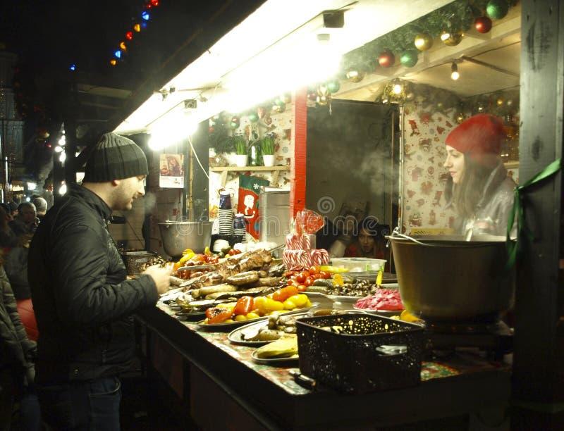 基辅 乌克兰 街道食物 库存图片