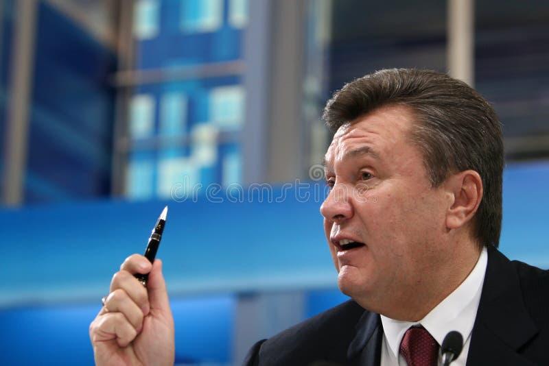 """基辅(KYIV),乌克兰†""""2008年2月29日:前乌克兰总统维克多・费奥多罗维奇・亚努科维奇 免版税图库摄影"""