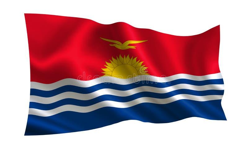 基里巴斯旗子 世界的一系列的`旗子 `国家-基里巴斯旗子 向量例证