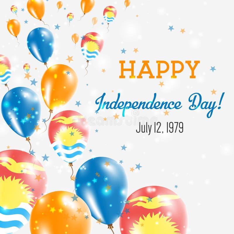 基里巴斯美国独立日贺卡 库存例证