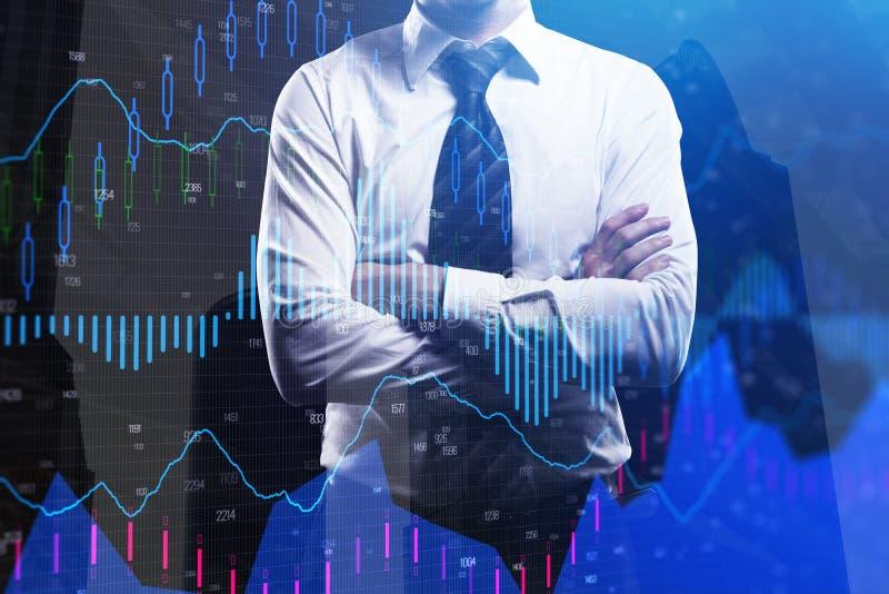 基金管理和经纪 向量例证