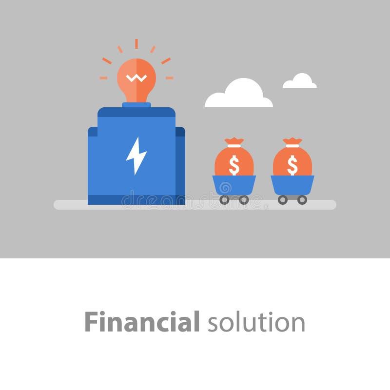 基金管理,筹款,收入增量,利率,退休金储款的回收投资 向量例证