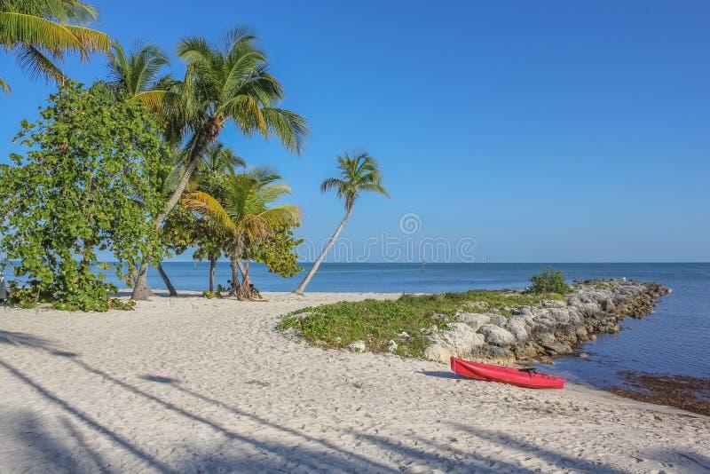 基韦斯特岛休息海滩 图库摄影