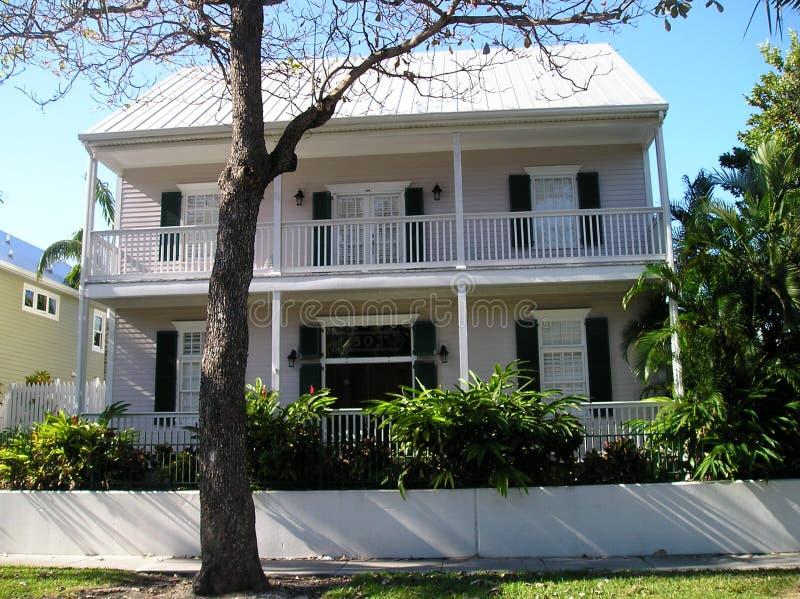 基韦斯特岛典型的房子 库存照片