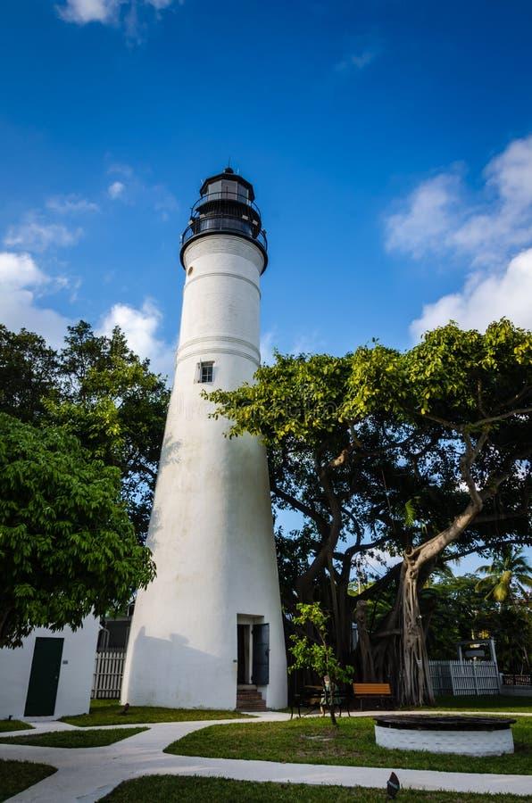 基韦斯特岛灯塔-基韦斯特岛,佛罗里达 免版税库存照片