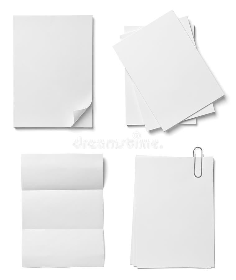 堆与curldocuments办公室事务的纸 向量例证