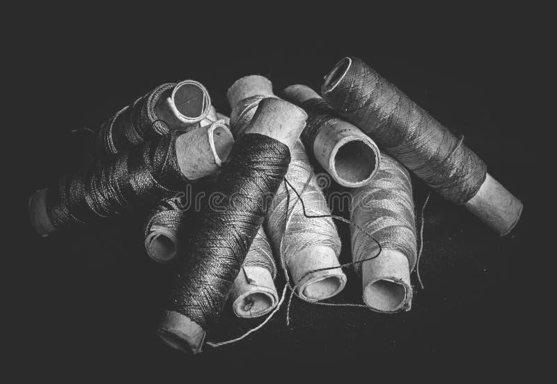 堆使用的短管轴螺纹剪裁 免版税库存照片