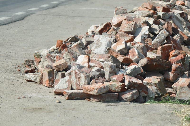 堆使用的砖 库存图片