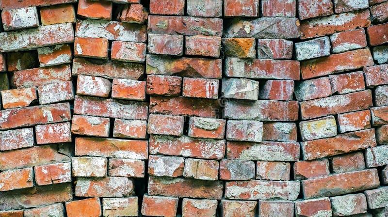 堆使用的红砖 免版税库存图片