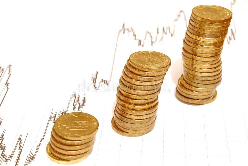 堆俄国硬币,金钱 免版税库存图片