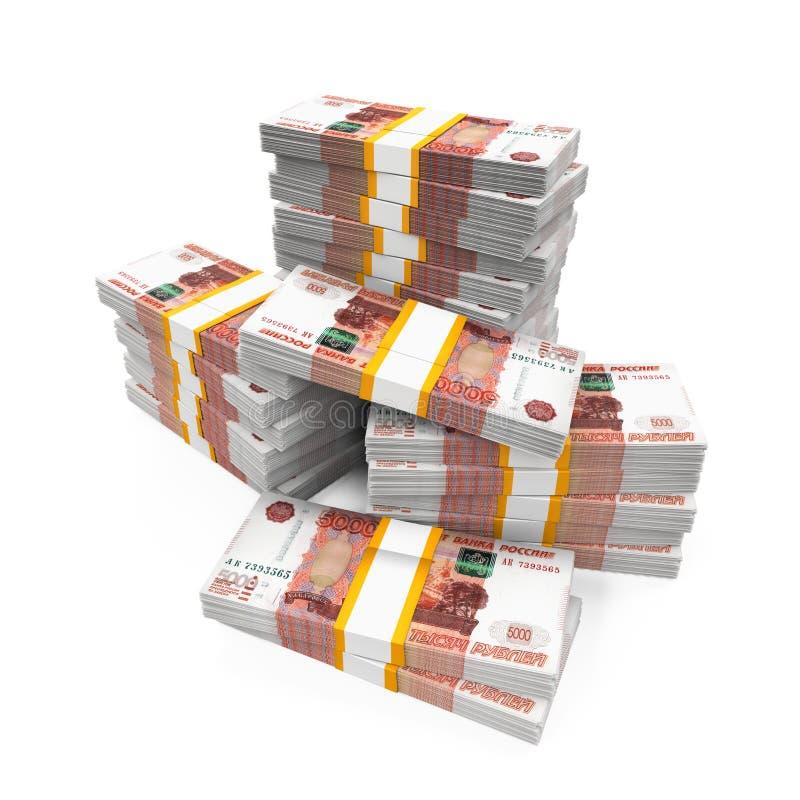 堆俄罗斯卢布 向量例证