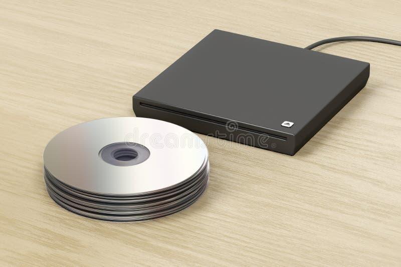 堆光盘和光驱 向量例证