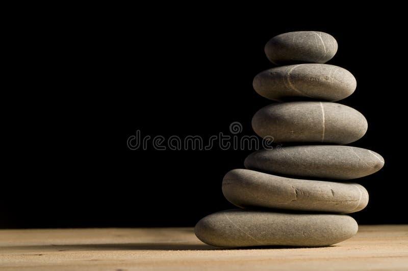 堆六石头 免版税图库摄影
