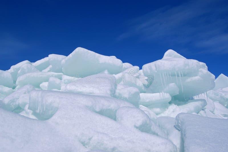 堆冰 免版税库存照片