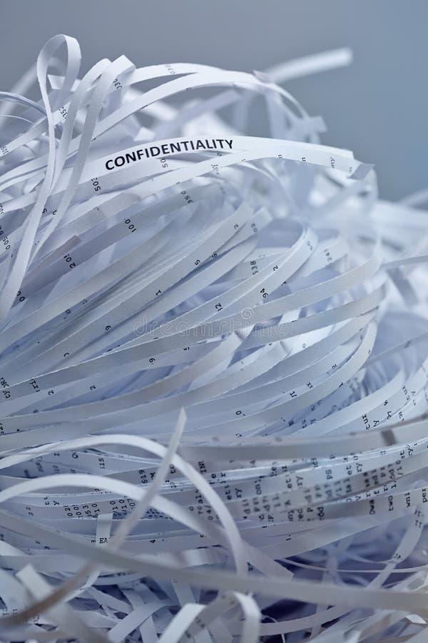 堆切细的纸张-机密 库存图片