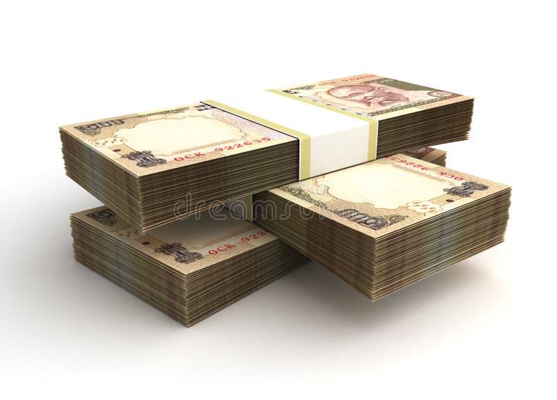 堆印度卢比 向量例证