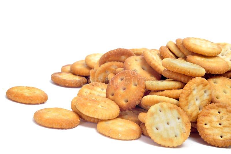 咸圆的薄脆饼干 图库摄影