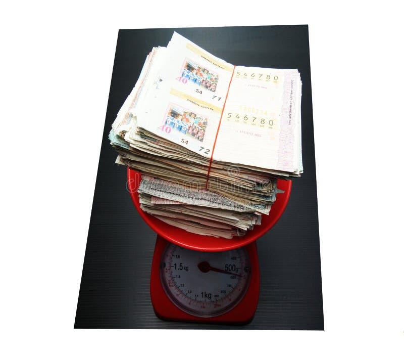 堆在重量等级的抽奖 免版税库存图片