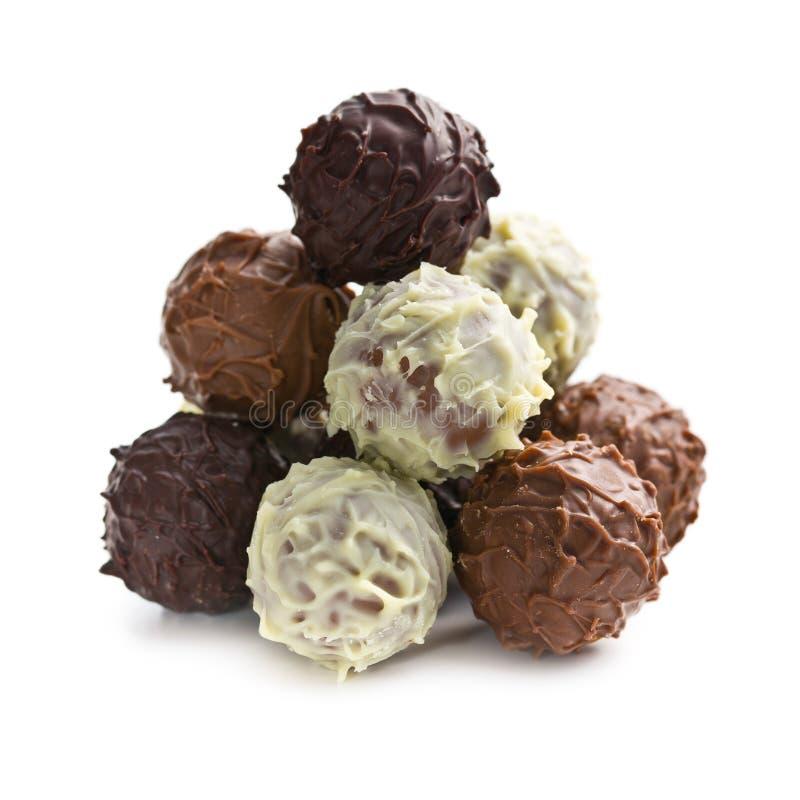 堆块菌状巧克力 免版税库存图片