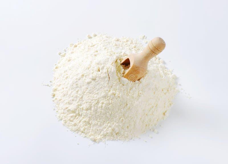 堆小麦面粉 免版税图库摄影