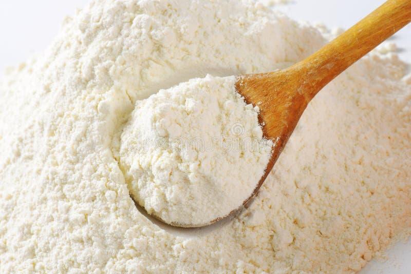 堆小麦面粉 免版税库存照片