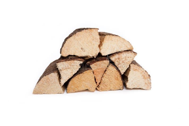 堆干坚硬木头 免版税库存照片