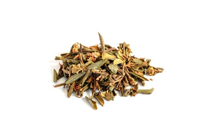 堆干杜鹃花Adamsii,茶的萨根dyilya 库存照片
