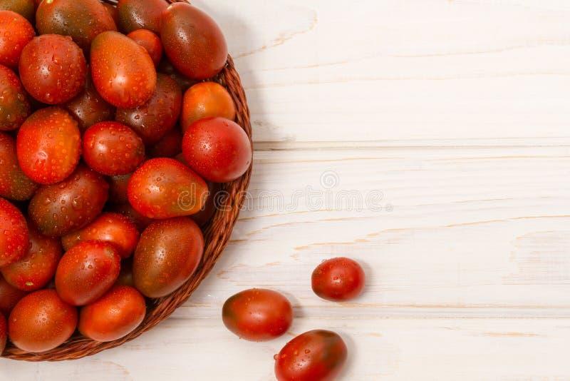 堆成熟蕃茄 免版税库存照片
