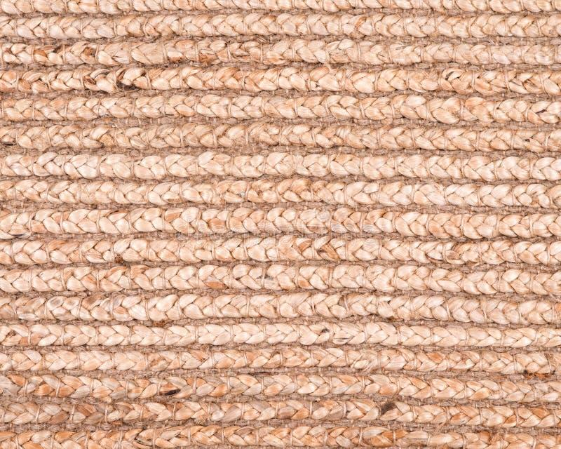 黄麻堆手被编织的地毯 免版税库存照片