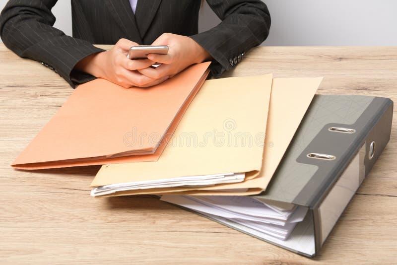 堆文件 库存图片