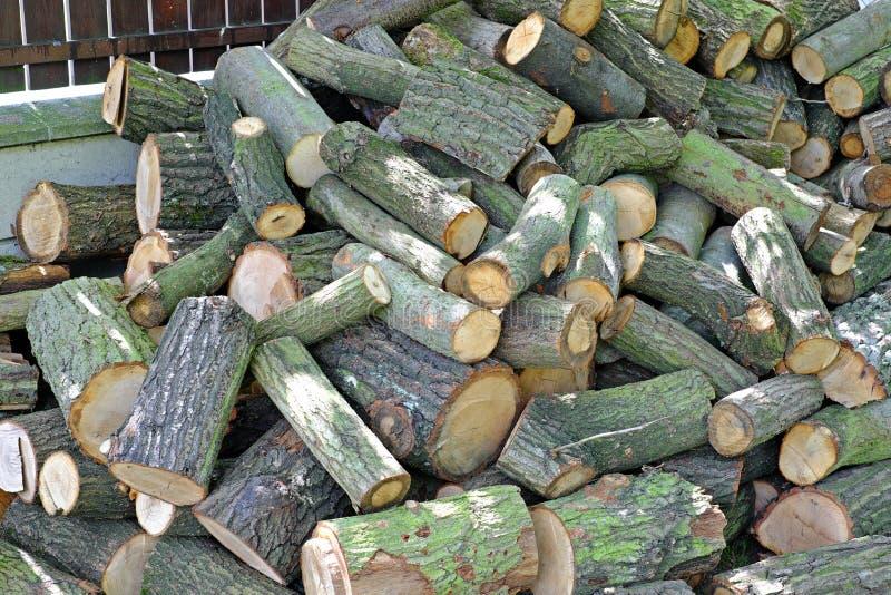 堆木准备分裂 库存照片