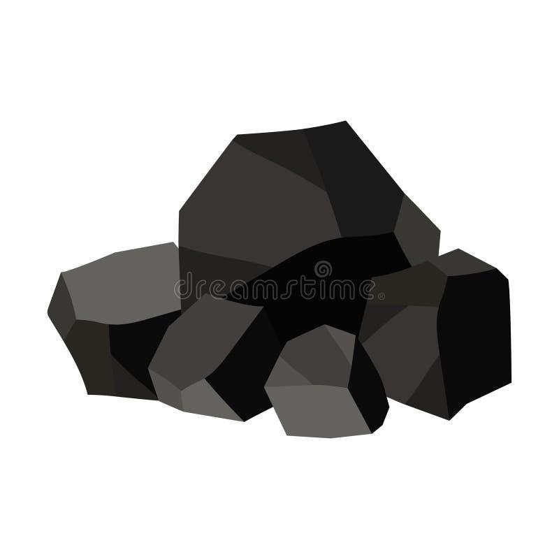堆木炭,石墨煤炭 向量例证