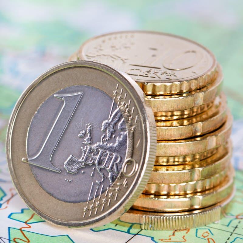 堆欧洲金钱 图库摄影