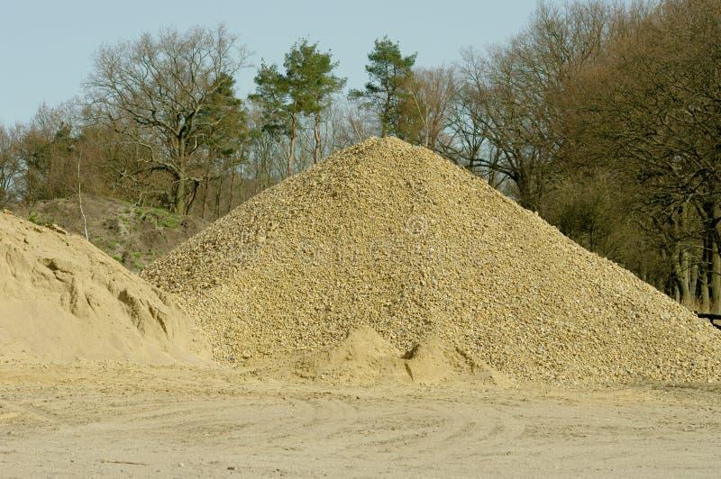 堆沙子 免版税库存照片