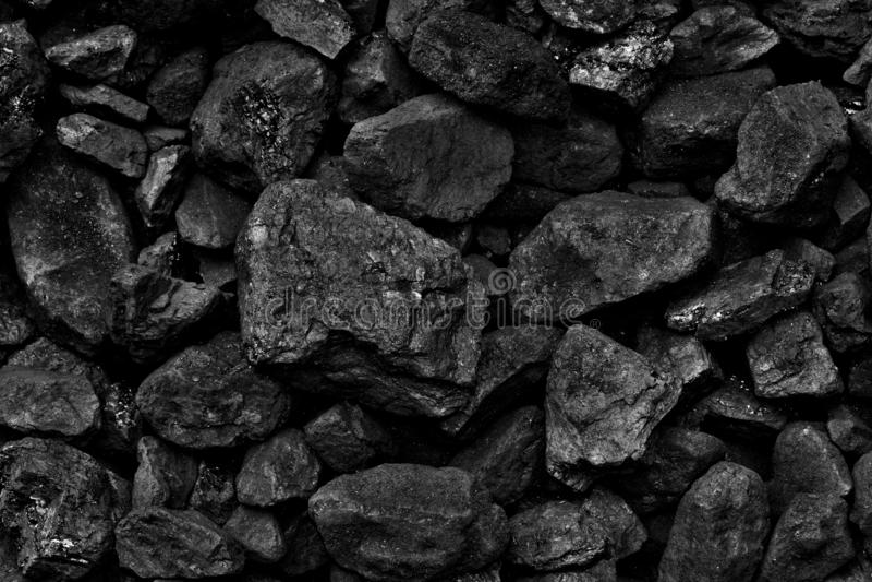 堆煤炭纹理背景 免版税库存照片