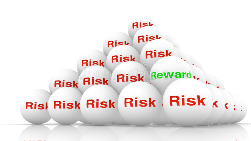 堆白色球有在红色的词风险 向量例证