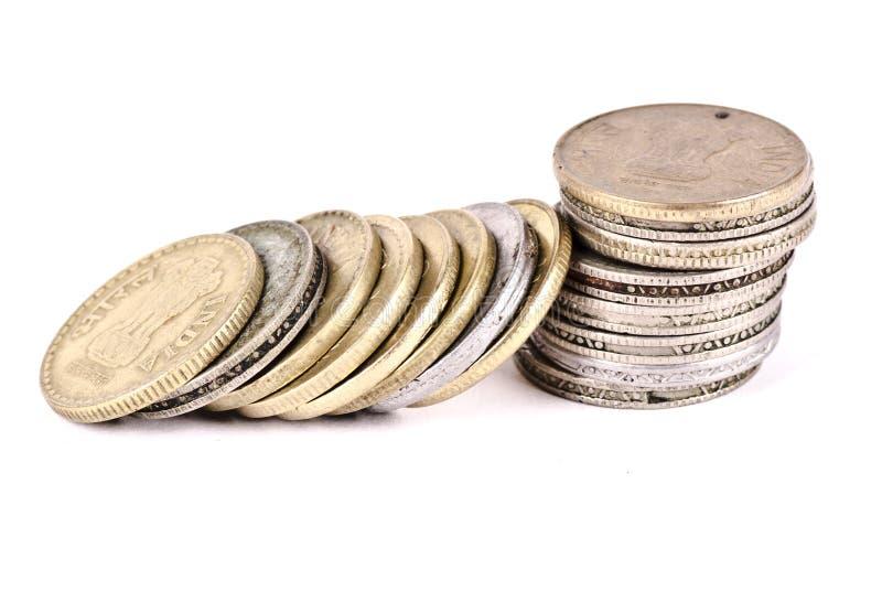 堆的概念硬币 免版税库存照片