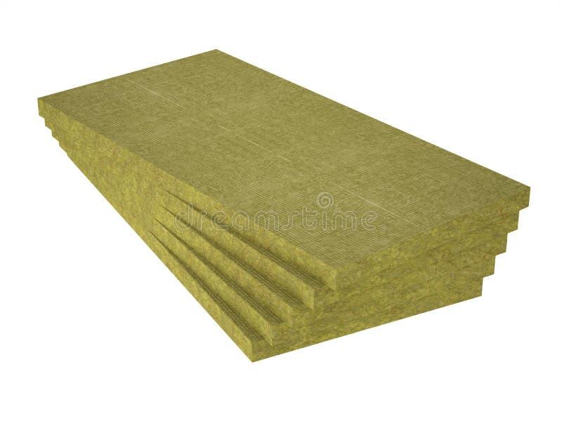 堆石羊毛绝缘材料 库存例证