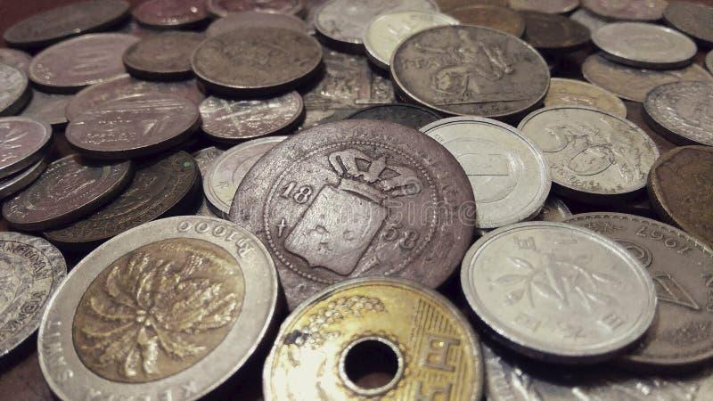 堆硬币 免版税库存照片