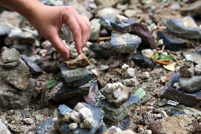 堆积石平衡 库存图片