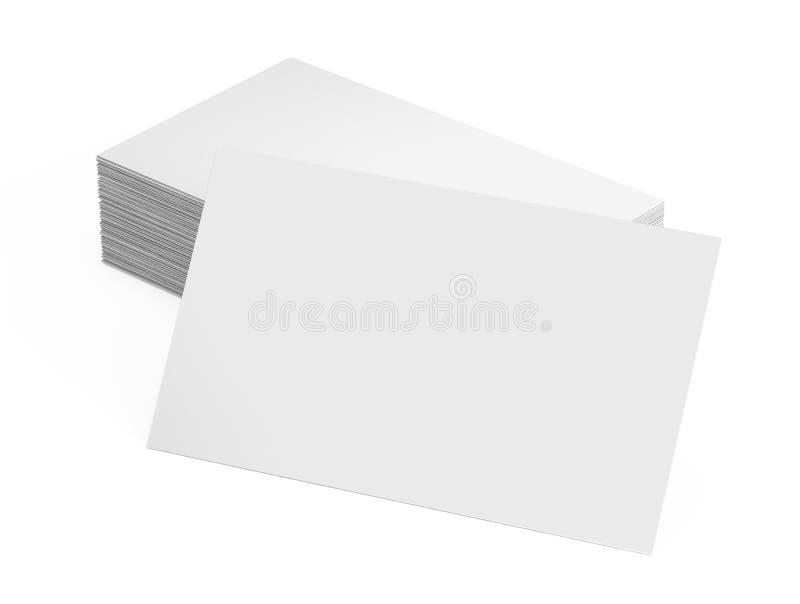 堆空白的名片 向量例证