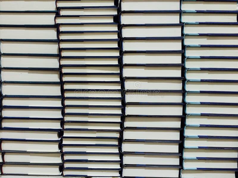 堆精装书 免版税库存照片