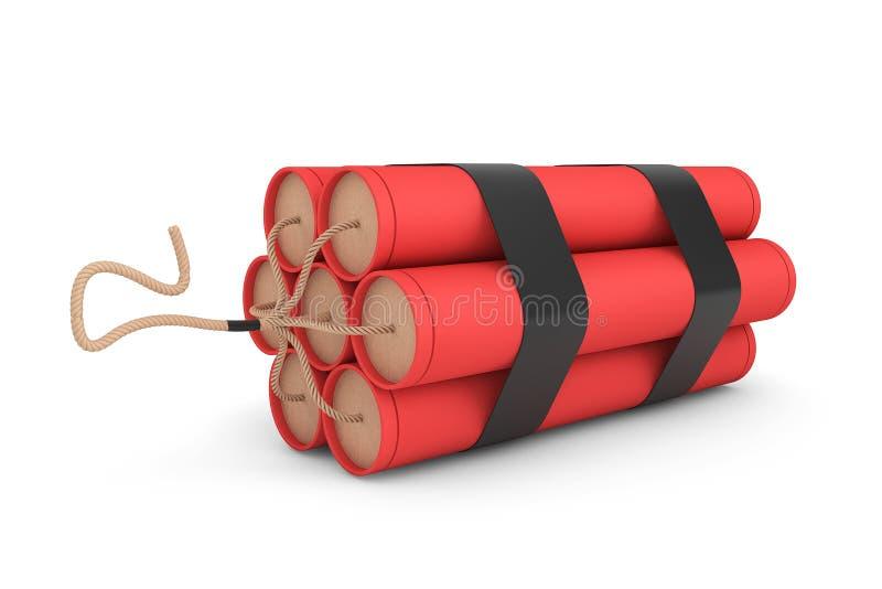 堆红色炸药 库存例证