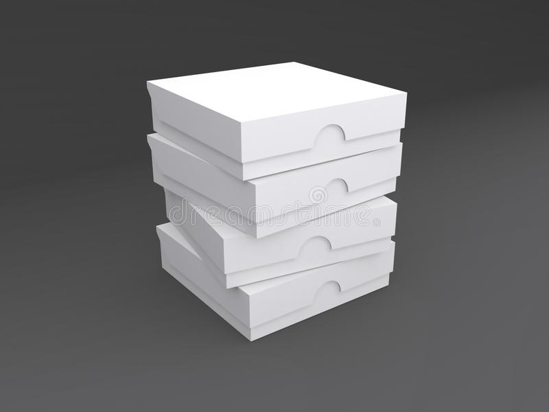 堆纸板箱 库存例证