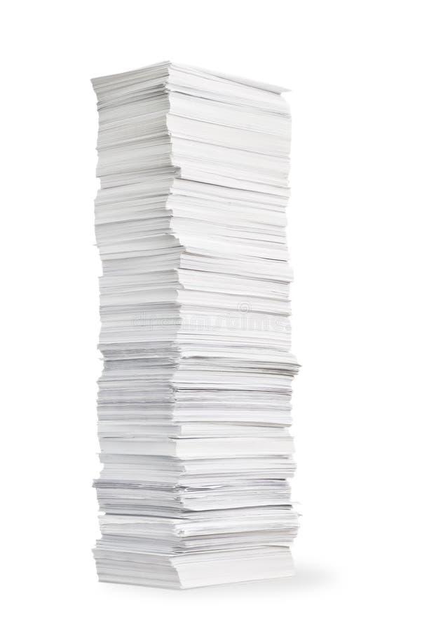 堆纸 库存照片