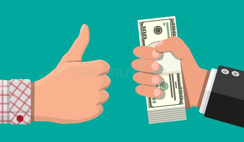 堆美元钞票 向量例证