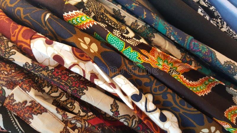 堆蜡染布2的爪哇经典样式 图库摄影