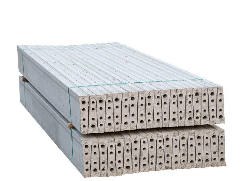 堆被已造形的钢筋混凝土平板 免版税库存照片