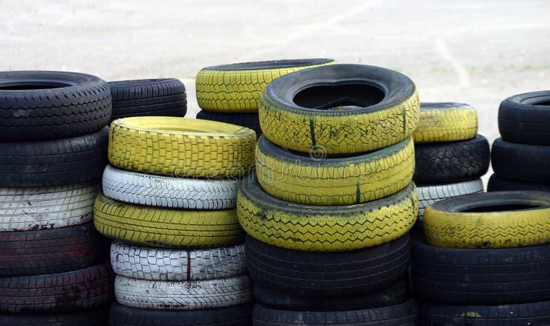 堆轮胎 免版税库存照片